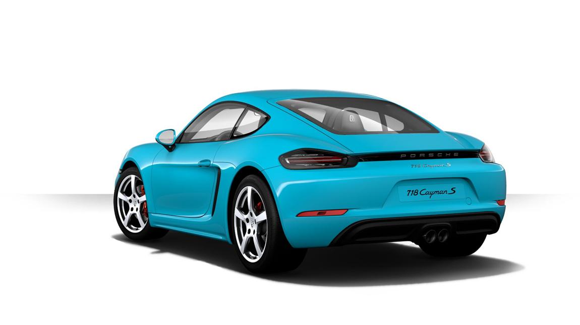 保时捷 718 Cayman S 迈阿密蓝/黑内 现车销售:车辆于2017年04月份生产,仪表里程15公里。车辆官方原价为99.08万元,现车优惠7个点,优惠后售价为92.14万元,并赠送原车价1个点的车内装饰。通过恩佐网购买的车型都是正规品牌授权经销商付款提车,享受官方质保售后服务,同时享受国家(包退、包换、保修)三包政策。 恩佐网客服电话:400-670-7004 期待您的来电! 详细选装配置:迈阿密蓝(31500元)、黑色真皮内饰组件(28200元)、LED主大灯带有保时捷动态照明系统升级版(149