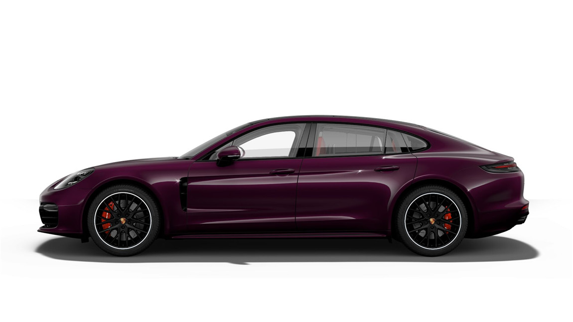 保时捷 panamera turbo 行政加长版 紫水晶/波尔多红