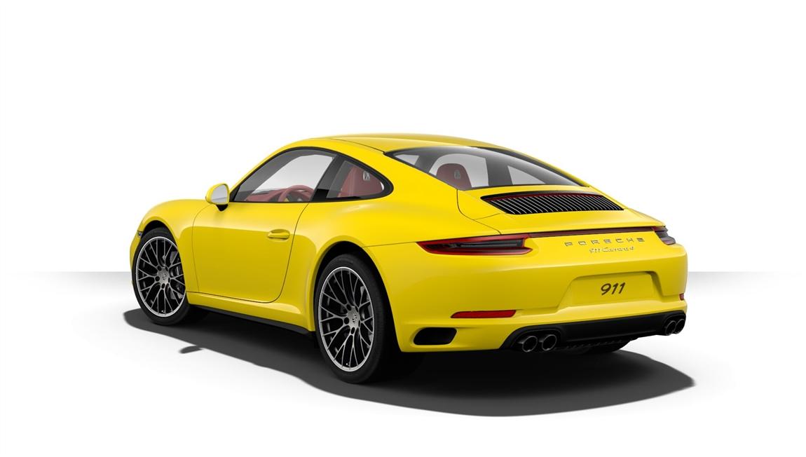 保时捷 911 Carrera 4 竞速黄/波尔多红 期货销售:车辆于2018年12月底前到店,车辆配置总价152.19万元,优惠3个点销售,优惠后售价147.62万元。店内购买第一年商业保险。通过恩佐网购买的车型都是正规保时捷品牌授权经销商付款提车,享受保时捷官方质保售后服务,同时享受国家(包退、包换、保修)三包政策。 期货销售。 详细配置:波尔多红真皮内饰(32800元)、熏黑尾灯(6800元)、保时捷免钥匙进入系统(13900元)、前部和后部停车辅助系统,包括倒车摄像头(8300元) 、助力转向升级