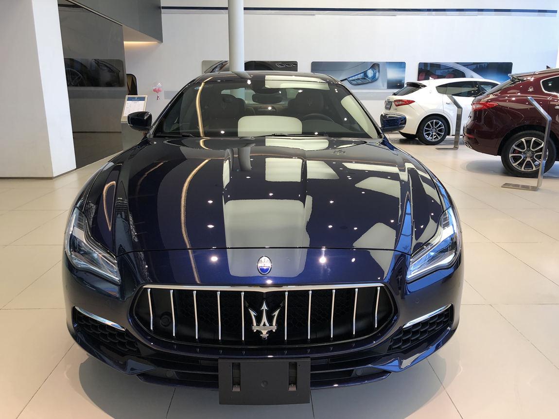 玛莎拉蒂 总裁 杰尼亚版 深海蓝/棕内现车优惠25万元